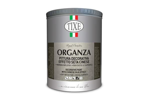 TIXE-ORGANZA- Vopsea decorativa cu efect de matase