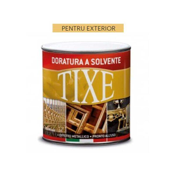 Vopsea decorativa EXTERIOR cu efect auriu metalic pe baza solvent - TIXE